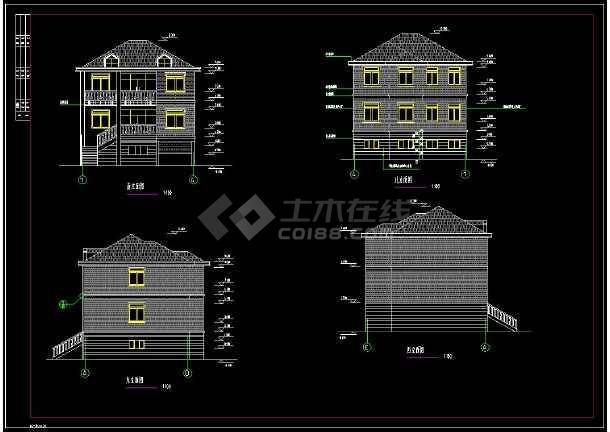 农居房建筑cad平面设计施工图纸(含设计说明)