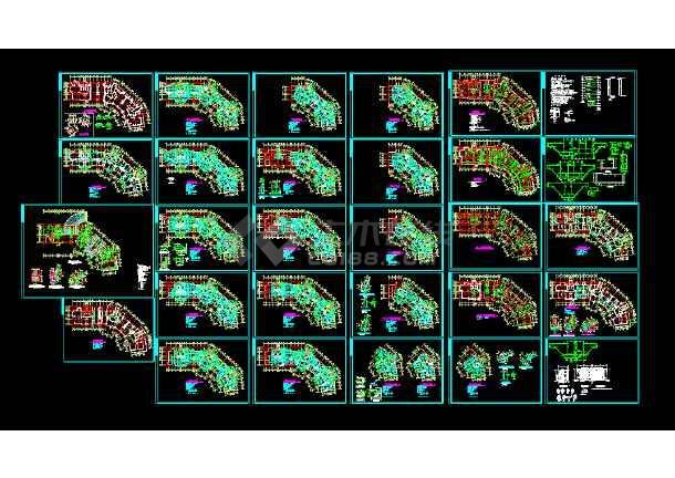 某市18工程住宅楼cad图纸层高v工程外域结构平面工程图纸图片