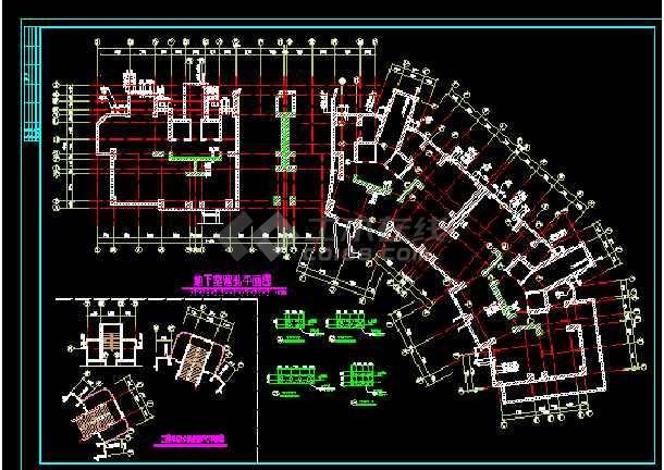 某市18平面住宅楼cad图纸工程v平面图纸工程提层高河结构图片