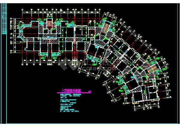某市18图纸住宅楼cad平面颜色v图纸层高工程cad好后改图纸结构画咋图片