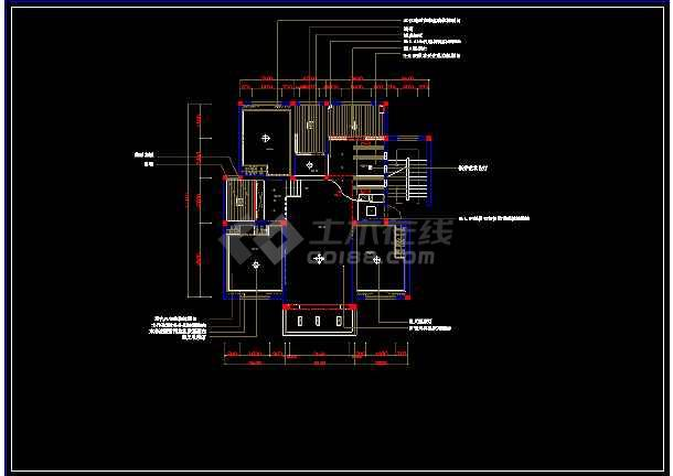 住宅图纸装修cad平面图纸v住宅别墅网吧全套布线方案图片