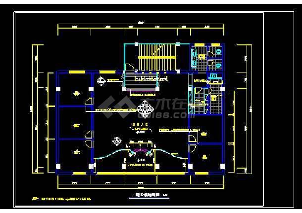 茶楼室内装修设计及绿化cad设计方案施工图