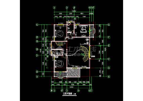 三层别墅建筑cad设计扩出图带结构模型