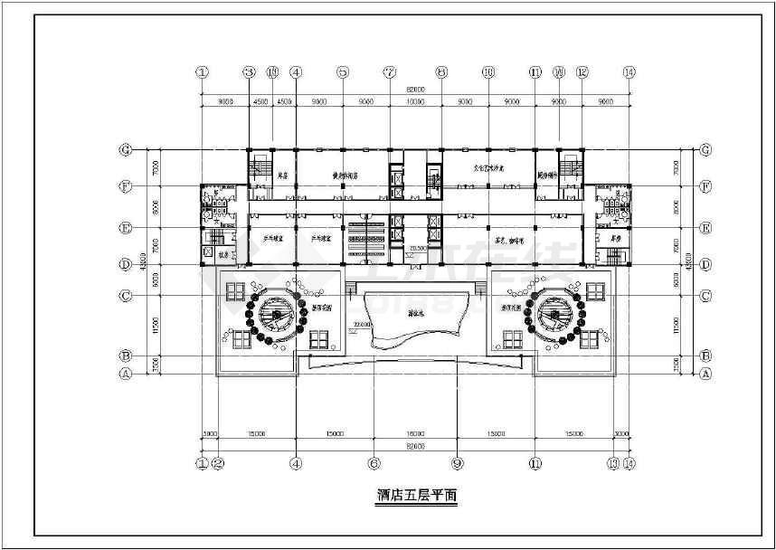 某地高层酒店建筑方案图纸(标注详细)