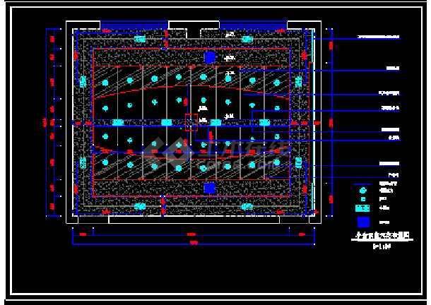 某小会议室施工装修设计cad平面图图片