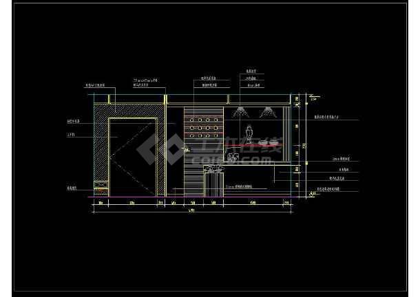近百套室内图纸装修cad图纸设计施工平面出入口客厅标示图片