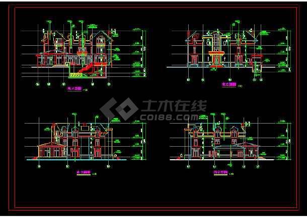 某英式别墅长度整套cadv别墅施工图cad什么单位石材的是里面图片