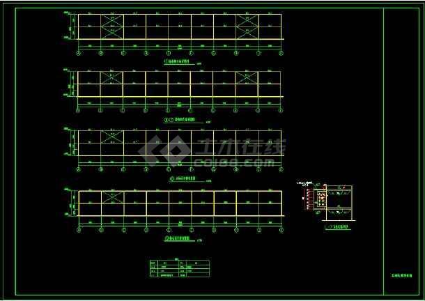 某专业厂房钢结构ad设计详细图纸