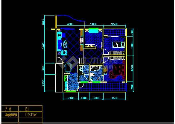 某小区经典户型住宅建筑CAD设计平面图