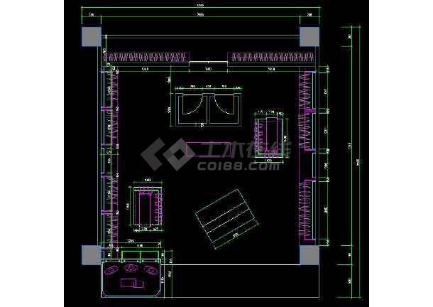 某服装店cad设计平面布置施工图