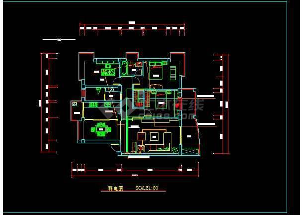 家装电路设计方案及施工全套cad图纸