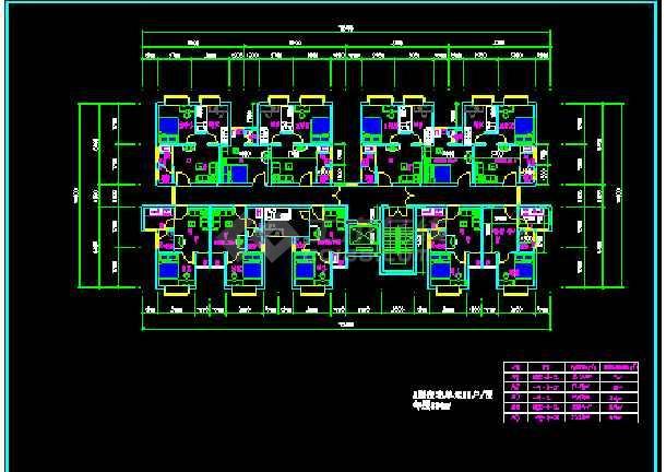 某小区住宅小户型建筑CAD设计平面图