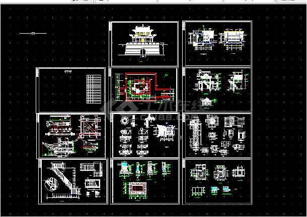 长城全套v全套建筑设计图纸古建CAD方案图纸中ct的水电图片