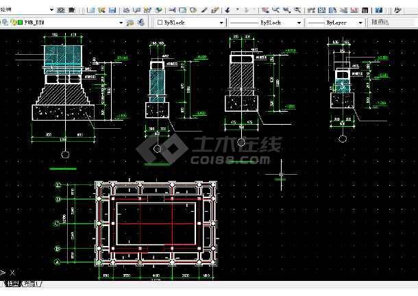 长城古建v古建建筑设计图纸图纸CAD全套6m方案箱涵图片
