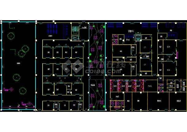 某医院门诊楼一层cad平面布置施工图