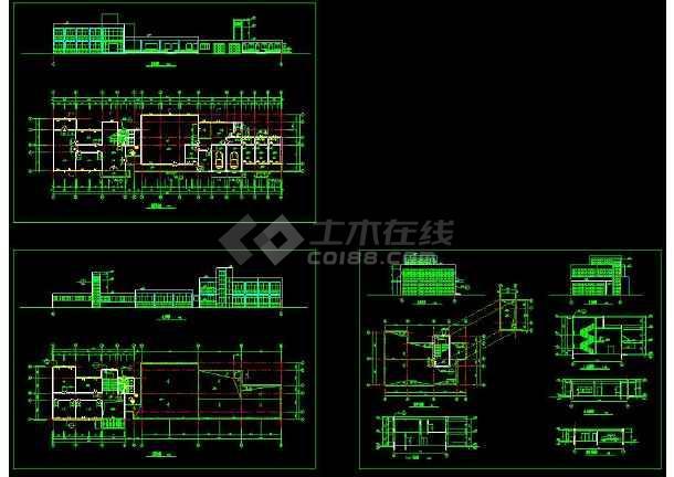 一层办公楼建筑装修cad设计平面施工图图片1