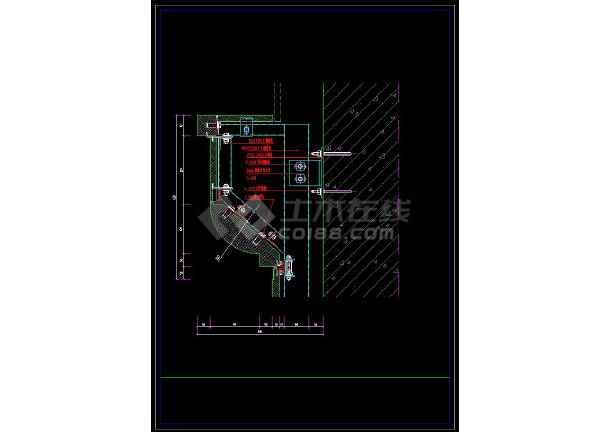 详细的室内装修石材柱cadv石材中点施工图cad条怎样两线节点取图片