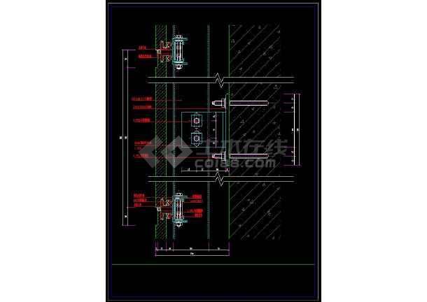 详细的室内装修石材柱cad设计节点施工图极简衣帽间cad图图片