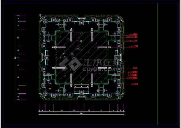 清晰的室内装修节点柱cadv节点石材施工图cad转换pdf不详细图片
