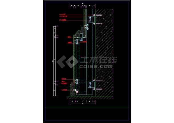 详细的室内装修石材柱cadv石材节点施工图鲁班cad看不到转化轴网图片