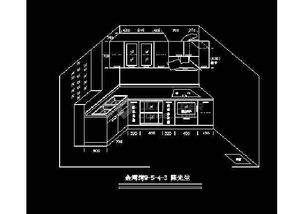 立体厨房建筑设计施工cad方案图纸图片