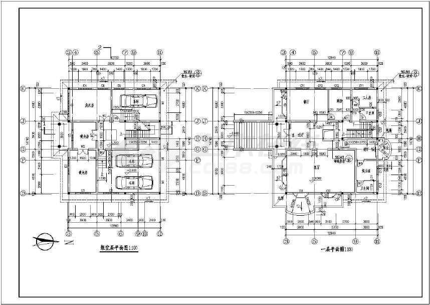 一套节点详细的欧式私人别墅建筑施工图(共6张)