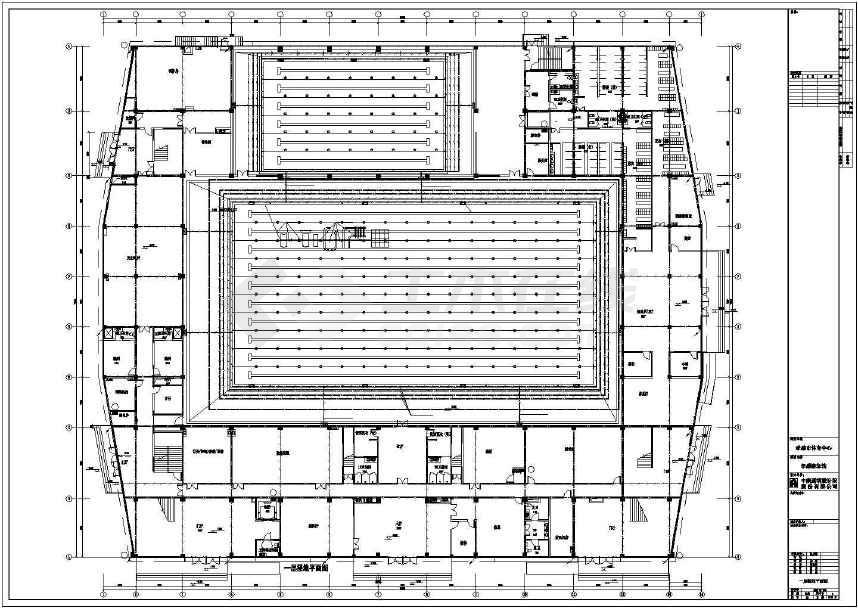 某地大型体育场强电建筑施工图(标注详细)