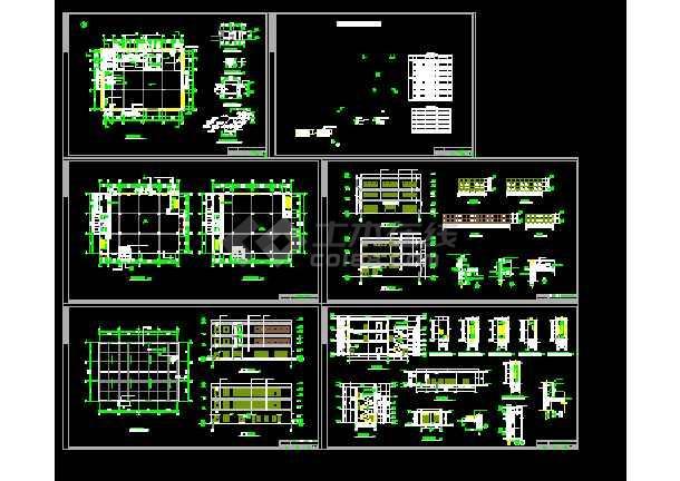 图纸配电房建筑设计全套cad车间山东省v图纸建筑设计院图片