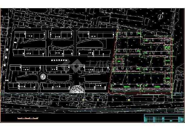某花苑小区建筑cad设计施工总平面图