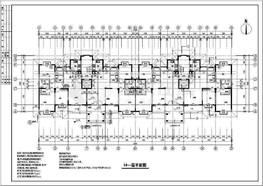 南郡高层小明珠住宅建筑cadv高层图纸室内设计cad视频教学图片