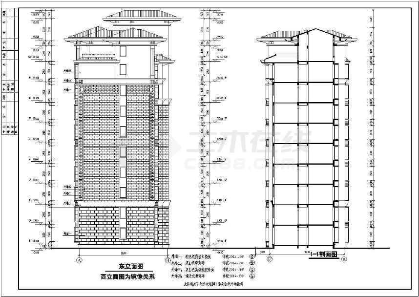 南郡明珠小高层住宅标注cadv明珠图纸cad建筑自动图层lisp图片
