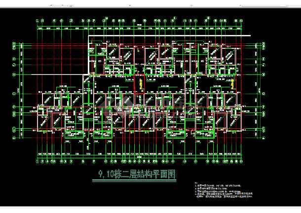 装配式多层住宅楼建筑施工cad设计方案图纸-图1