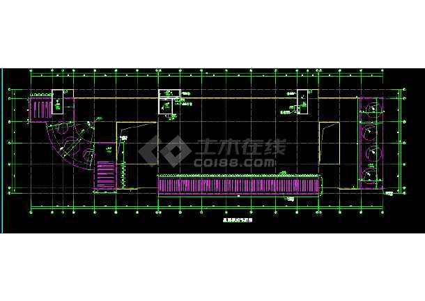本资料为:某四层县级医院急诊楼建筑cad设计施工图,包含:屋面飘板