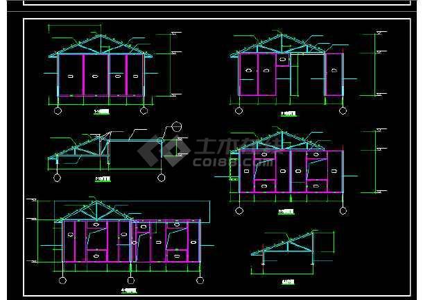 装配式房屋建筑施工cad设计方案图纸-图1
