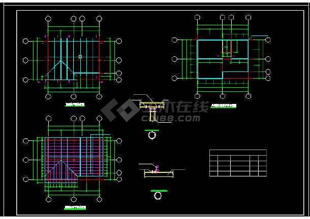 装配式房屋建筑施工cad设计方案图纸-图2