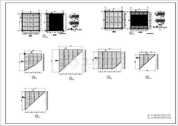 某公司地下车库夹层钢结构工程施工图