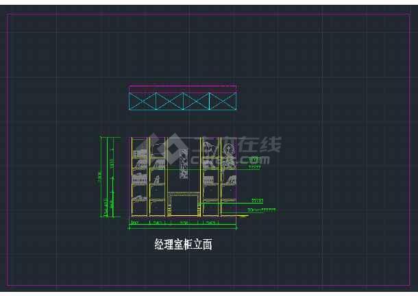 某服装厂办公室CAD装修设计图纸天房屋图纸刀图片