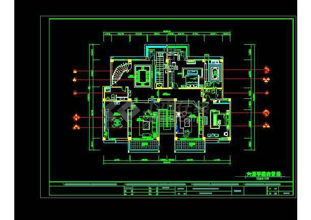 华泰楼中楼建筑施工cad设计方案图纸