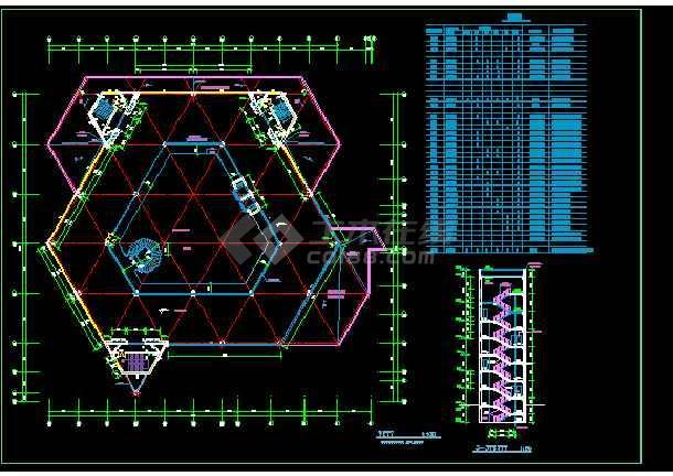 某展览中心建筑施工cad设计方案图纸-图1