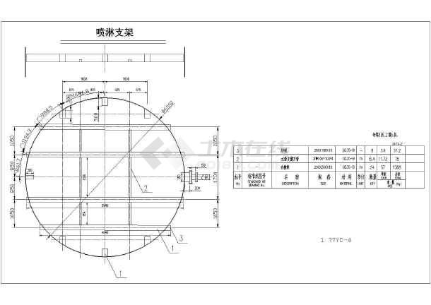 环保除雾器、喷淋系统CAD施工图-图1