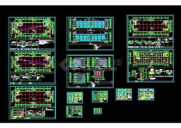 中标图纸建筑施工cadv图纸方案厂房cad3是干什么图层的初始个图片