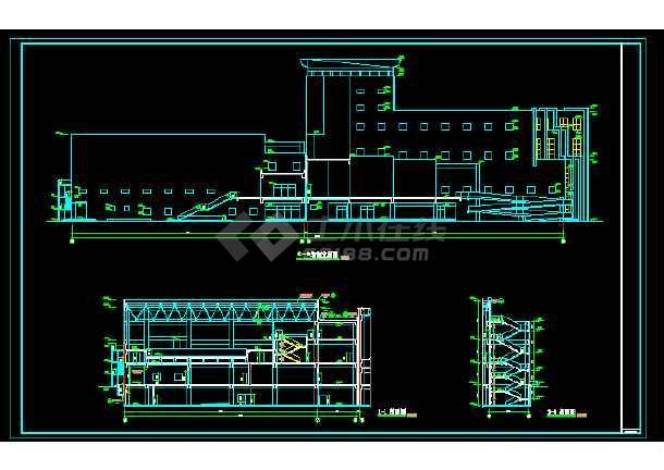 文化馆建筑施工cad设计方案图纸-图2