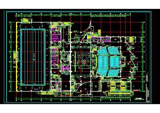 文化馆建筑施工cad设计方案图纸-图3