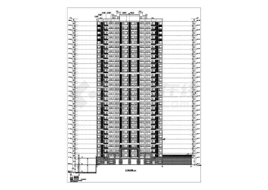 某大型地产开发商楼盘全套施工图纸(建筑结构水电暖)-图1