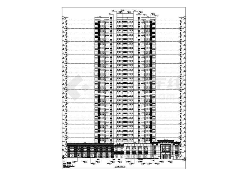 某大型地产开发商楼盘全套施工图纸(建筑结构水电暖)-图2