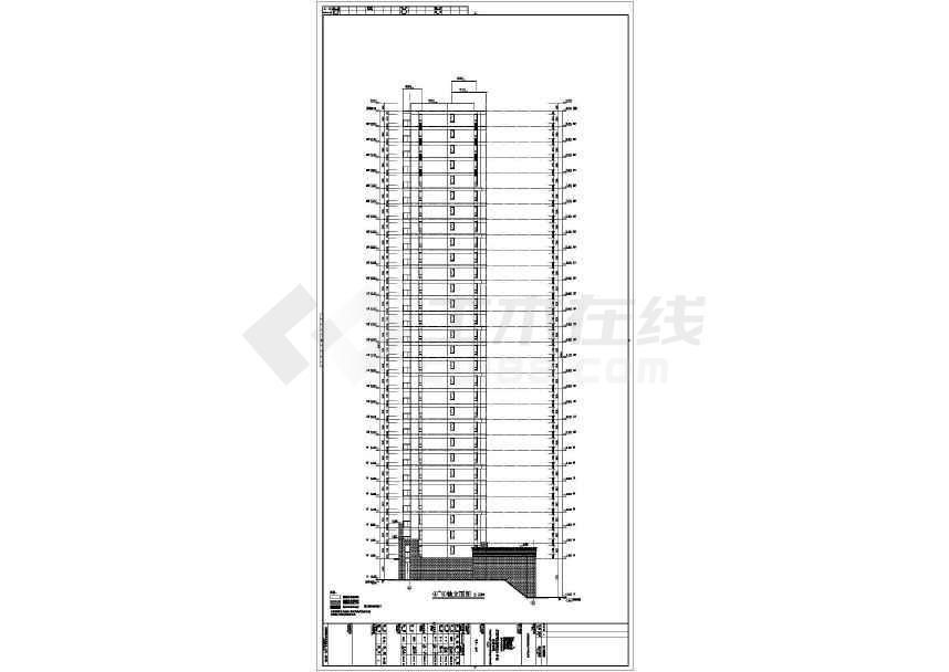 某大型地产开发商楼盘全套施工图纸(建筑结构水电暖)-图3