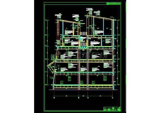 黄永玉博物馆建筑施工cad设计方案图纸-图1