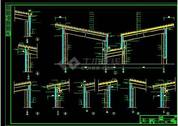 黄永玉博物馆建筑施工cad设计方案图纸-图2