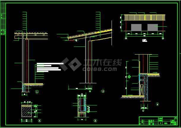 黄永玉博物馆建筑施工cad设计方案图纸-图3