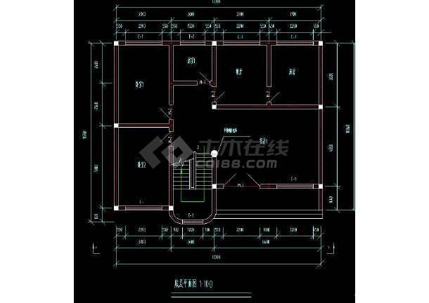 自由住宅楼民房的cad平面设计图